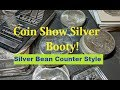 Buying Silver at the Coin Show.  Stacking Silver Bullion and Silver Dollars near spot price. CS Tips