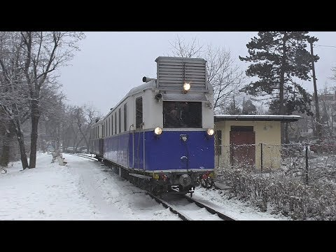 Havas Gyermekvasút / Snowy Sunday on the Children's Railway in Budapest