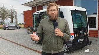 Wir sind mit dem ersten öffentlichen autonomen Bus in Deutschland gefahren