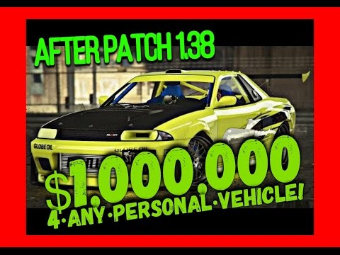 GTA 5 ONLINE - SELL ANY PERSONAL VEHICLE FOR $1 MILLION! (EASY GLITCH 1.38 PS4 & XB1)