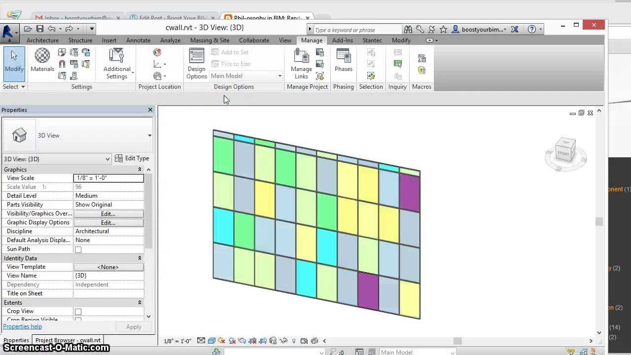 Change curtain wall color revit for Curtain creator software