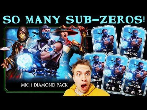 MK Mobile HUGE MK11 Diamond Pack Opening. MK11 Sub-Zero Hunt. My LUCKIEST Pack Opening Ever!