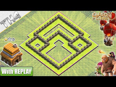 NEW BEST Town Hall 4 Base With REPLAY 2019 | TH4 Base With COPY LINK - Clash Of Clans