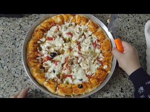 صورة  طريقة عمل البيتزا طريقة عمل البيتزا اللذيذة مع سوسو طريقة عمل البيتزا من يوتيوب