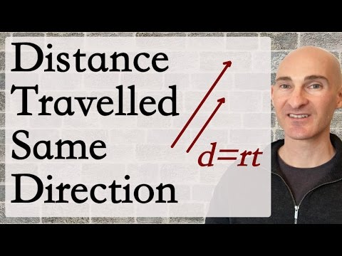 Distance Traveled - Same Direction