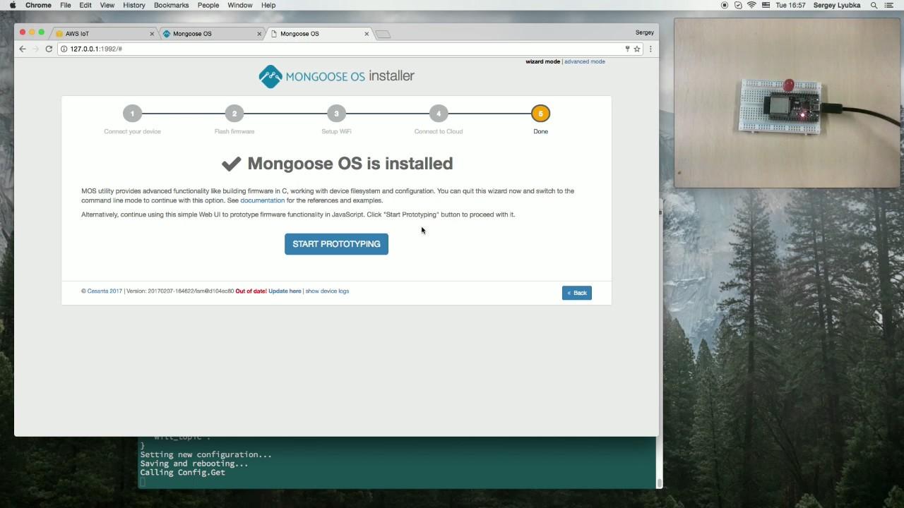 Mongoose OS #5: ESP32 or ESP8266 on AWS IoT