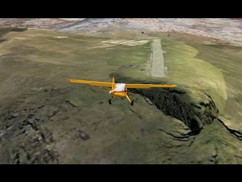 Google Earth Flight Simulator The Most Dangerous Airstrip,MATEKANE,LESOTHO,AFRICA