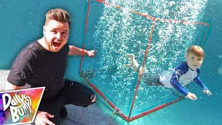Underwater BUBBLE Box Fort!