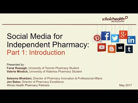 Social Media for Independent Pharmacy -  Part 1