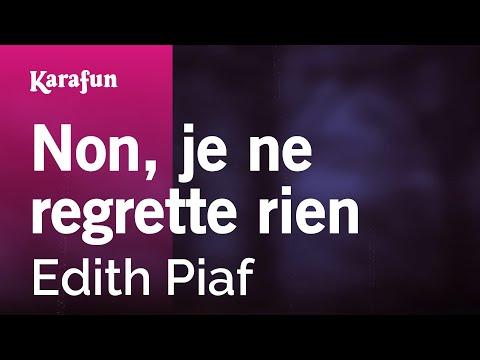 Karaoke Non, je ne regrette rien - Edith Piaf *
