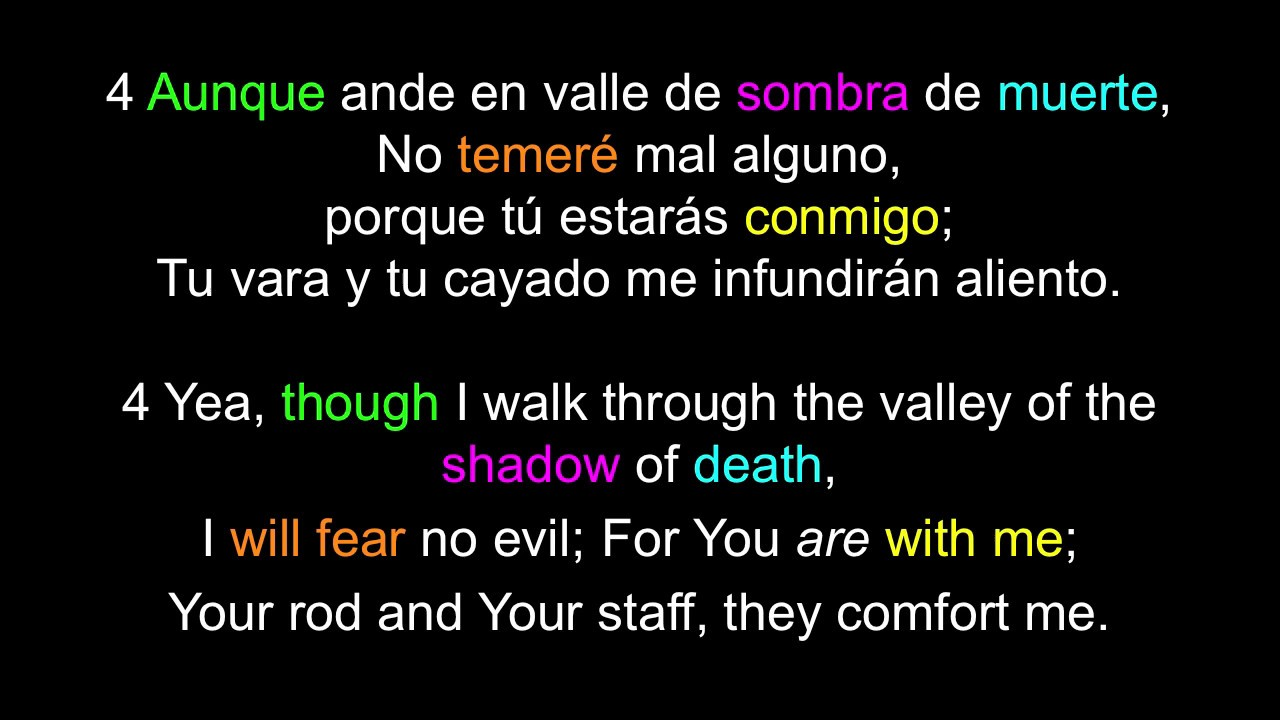 learn english spanish aprende inglés español salmo 23 psalm 23