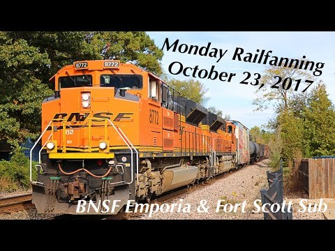 Monday Railfanning on the BNSF Emporia and Fort Scott Sub on October 23, 2017