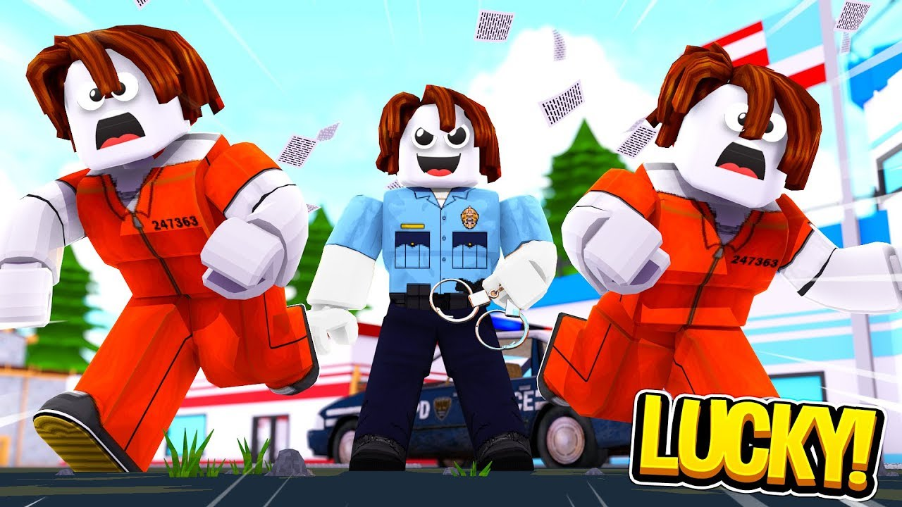 LUCKY BACON MAN COP (Roblox Jailbreak)