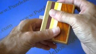 3 Sun 12 Step Natural Wood Japanese Puzzle Box (Kusu Version)