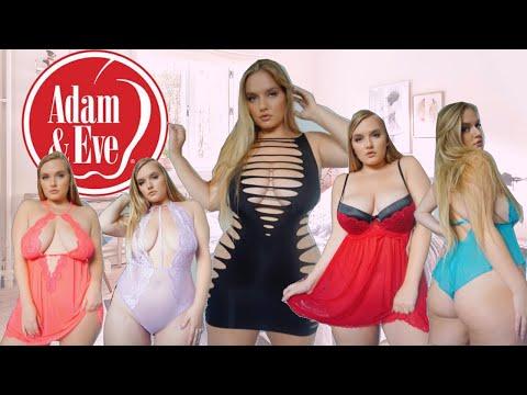 AdamandEve.com Lingerie Haul and Try on | Plus Size Curvy Lingerie
