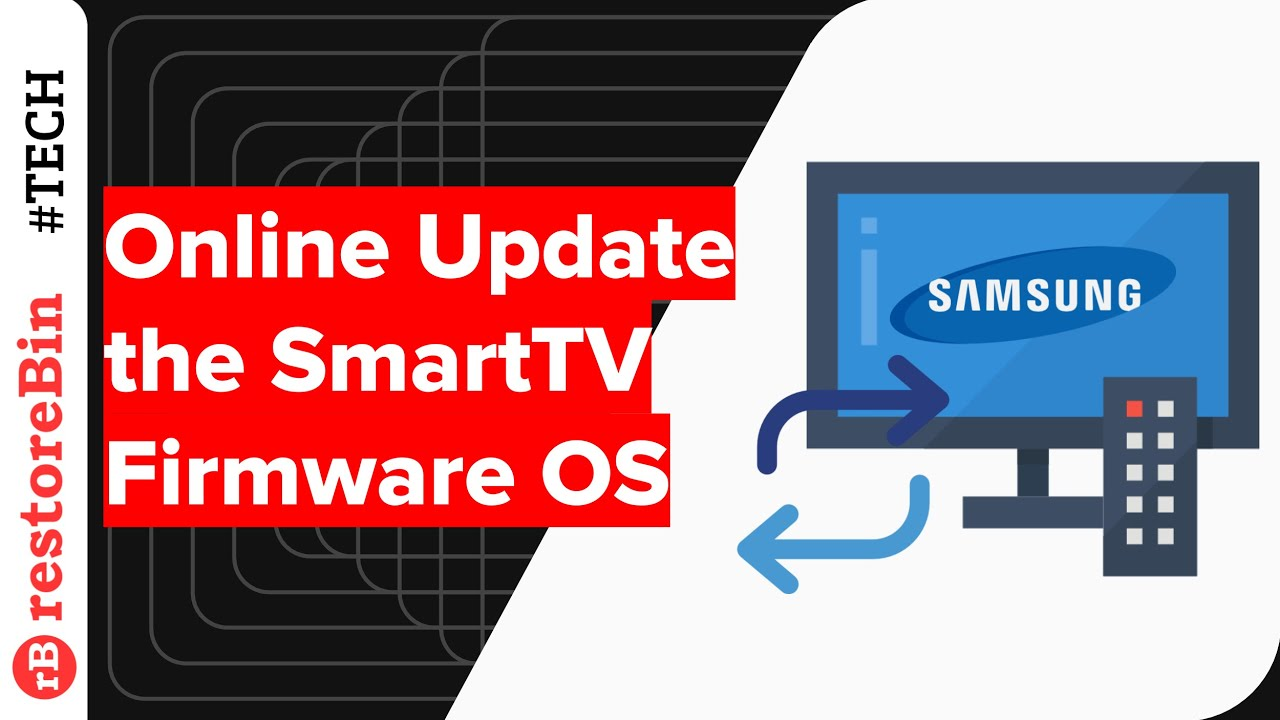 How to update Samsung Smart TV software or firmware online?