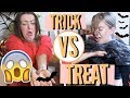HILARIOUS TRICK OR TREAT CHALLENGE W/ MY MUM! *DISGUSTING!!*