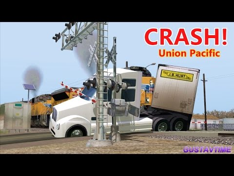 Tractor trailer crashed with a Union Pacific train