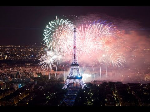 Bastille Day 2014 in Paris by Seine river