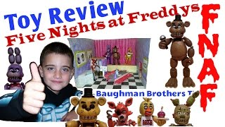 toy review five nights at freddy s funko action figures complete set fnaf role play