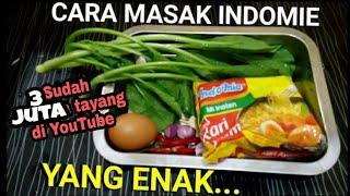 Indonesian Food Noodles with Egg INDOMIE - Cara masak Mie Instan Yang Enak