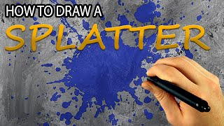How To Draw A Paint Splatter (Corel Painter Tutorial) [Draw This #61]