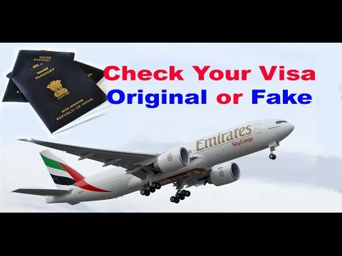 "How to check visa status online UAE, how to check visa status online dubai ""Original or Fake"" Hindi"