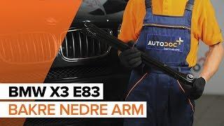 Skifte Bærebro bak og foran BMW X3 (E83) - videoopplæring