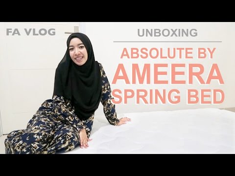 FA VLOG | UNBOXING AMEERA SPRING BED !