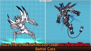 แมว Hero พลังแห่งดวงดาวและแมวหุ่นยนต์นักรบ Battle Cats