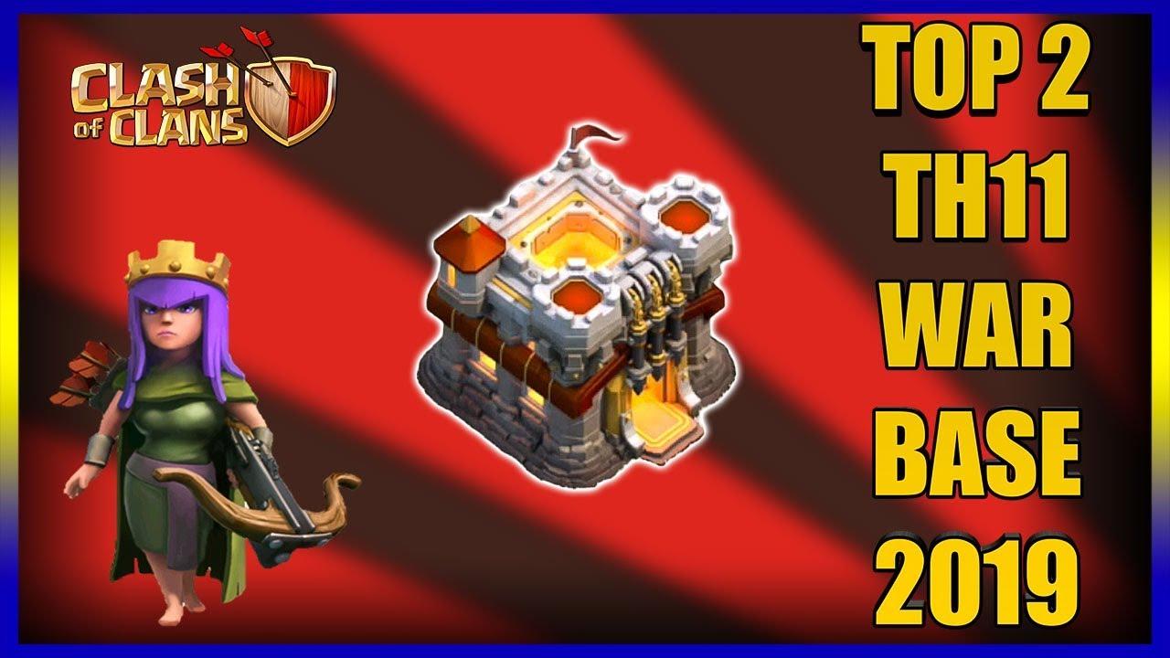 TOP 2 TH11 WAR BASE 2019 Anti 2 Star With +9 Replays Anti