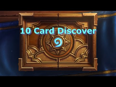 [Hearthstone] Tavern Brawl: 10 Card Discover