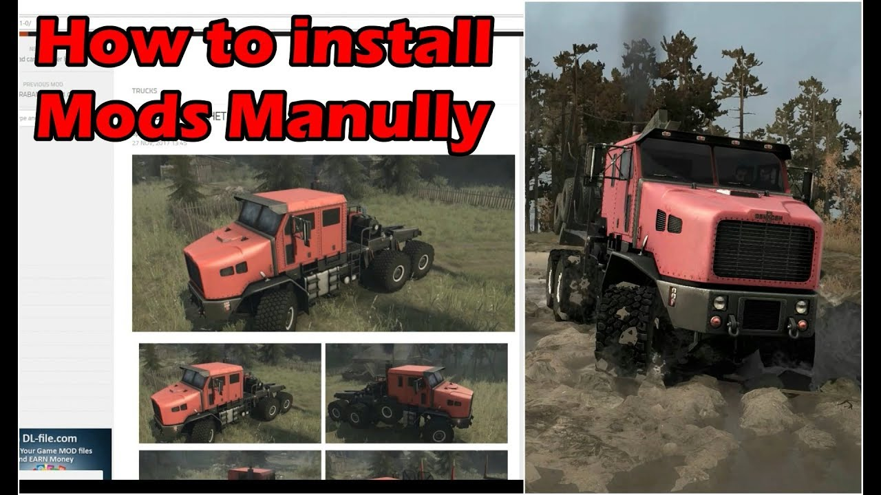 install spintires mods
