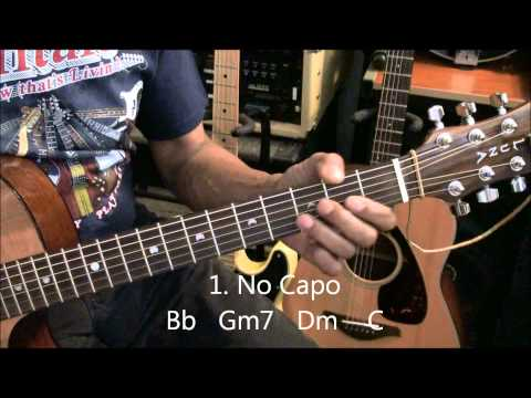 Calvin Harris OUTSIDE ft Ellie Goulding Guitar Lesson With & Without Capo EricBlackmonMusicHD
