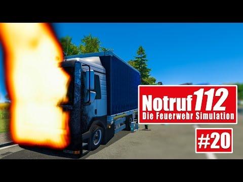 NOTRUF 112 #19: LKW-Brand auf der Autobahn! I Gameplay Notruf 112 die Feuerwehr-Simulation