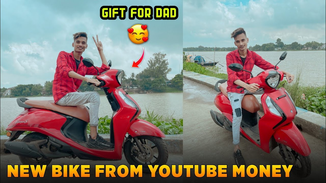 Gift For Dad😍 | New Bike From YouTube Money💰 - SK LifeStyle
