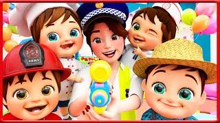Jobs and Career Song   Banana Cartoon Nursery Rhymes & Kids Songs