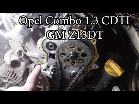 замена цепи грм Opel Combo 1.3 CDTI Gmz13dt ДЕТАЛЬНО