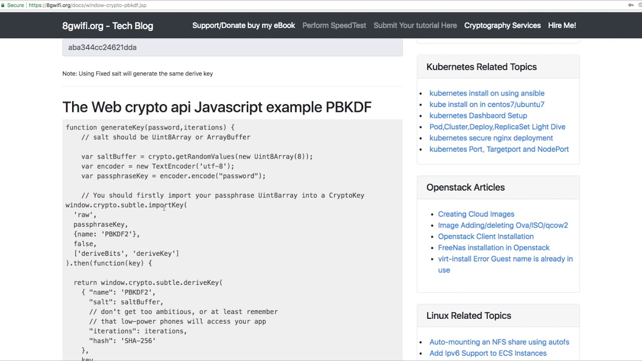 web crypto api pbkdf example