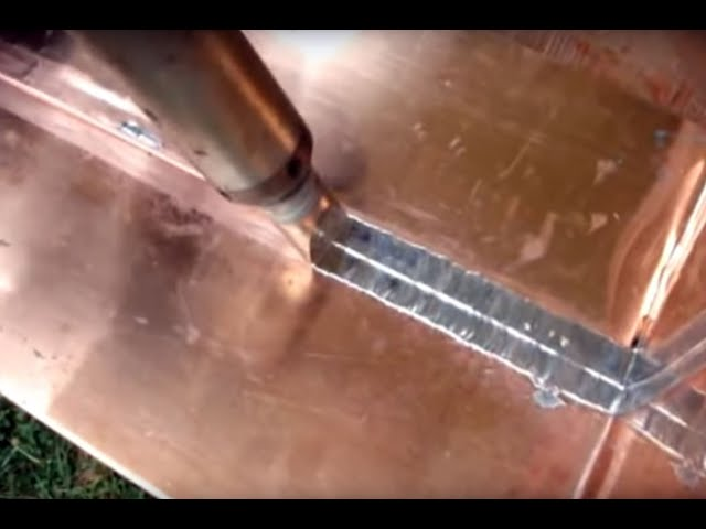 Soldering Flat Lock Copper Roofing Youtube