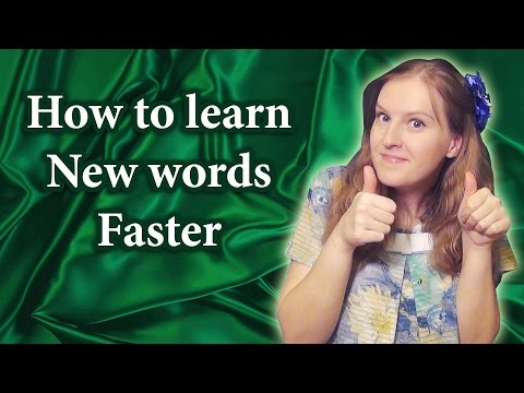 How to learn new words and phrases faster, study new vocabulary, memorize new words
