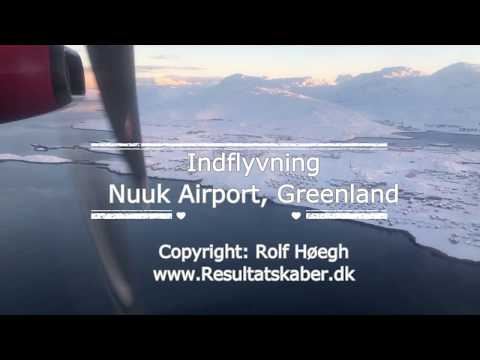 Indflyvning Nuuk - Approaching Nuuk Airport