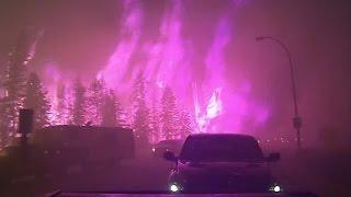 Man records harrowing fire evacuation in Canada thumbnail