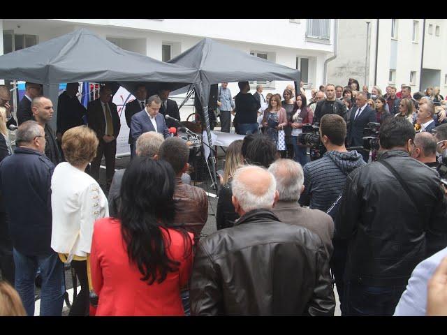 [30.05.2020.] Говор министра Дачића на уручењу кључева станова за избегле породице у Севојну