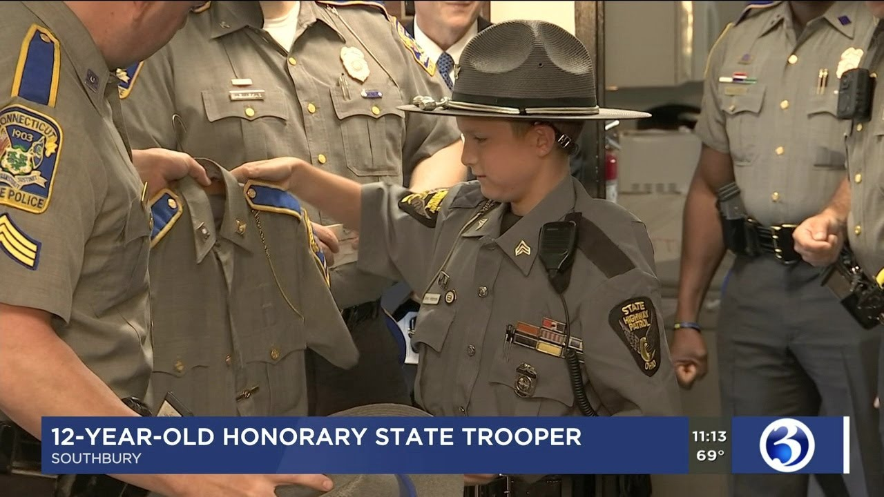 Video: CT State Police welcome 'honorary trooper'