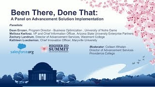 Been There, Done That: A Panel on Advancement Solution Implementation