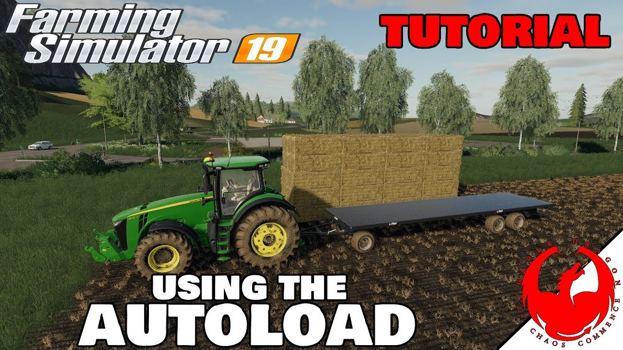 AUTOLOAD TUTORIAL - Fligal Autoload bale Trailer - Farming simulator 19