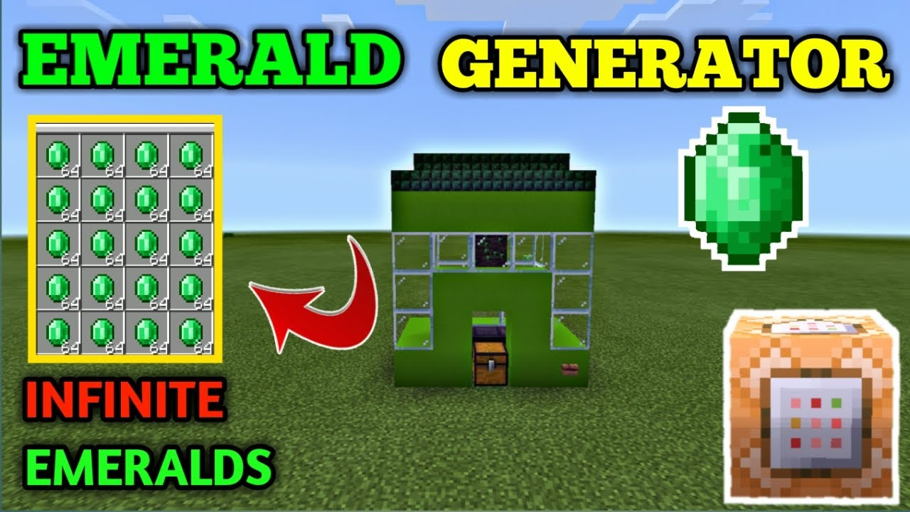 HOW TO MAKE A EMERALD GENERATOR IN MINECRAFT 1.16   MCPE ...