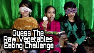 | GUESS THE RAW VEGETABLES EATING CHALLENGE | EATING CHALLENGES |