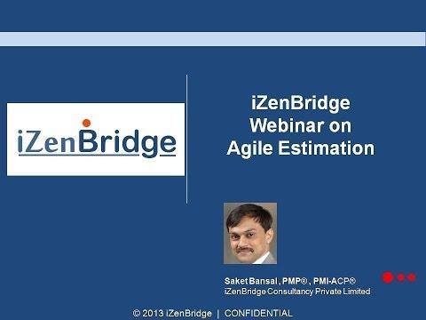 PMI-ACP - Webinar on Agile Estimation - iZenBridge - 동영상